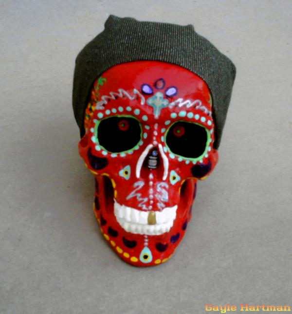 day of dead mexico skulls. Day of the Dead Skulls-Biker