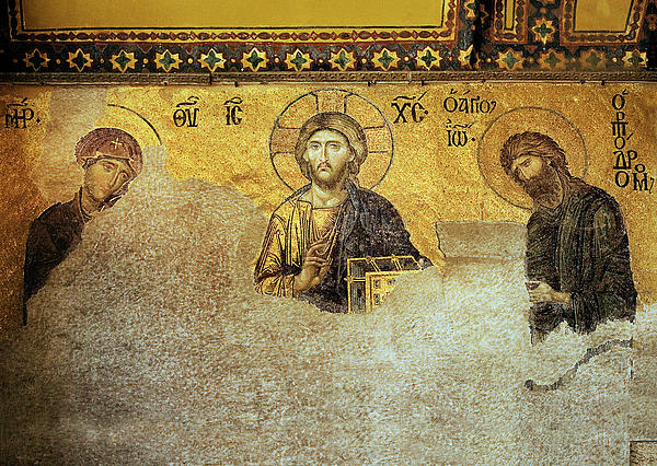 Deesis Mosaic Hagia Sophia-christ Pantocrator-the Last Judgement Photograph  - Deesis Mosaic Hagia Sophia-christ Pantocrator-the Last Judgement Fine Art Print