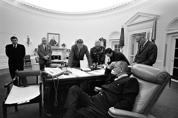 History Photograph - Detroit Riots Crisis Meeting. President by Everett