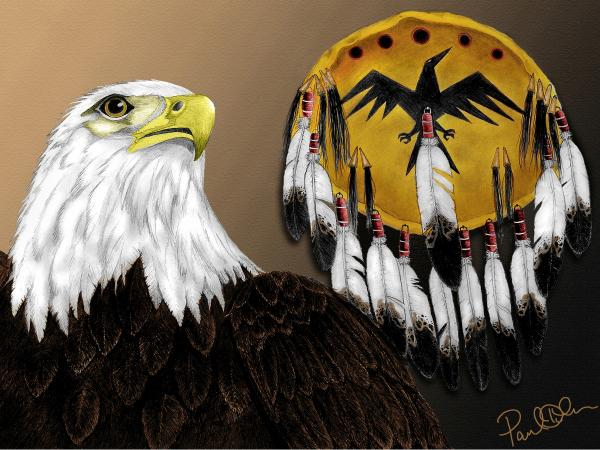 Eagle Medicine Painting by Pablo DeLuna - Eagle Medicine Fine Art ...