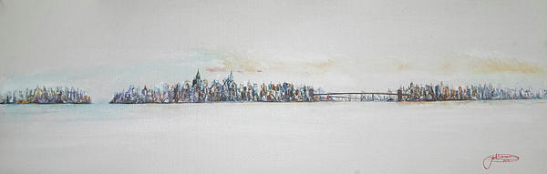 Early Skyline Painting  - Early Skyline Fine Art Print