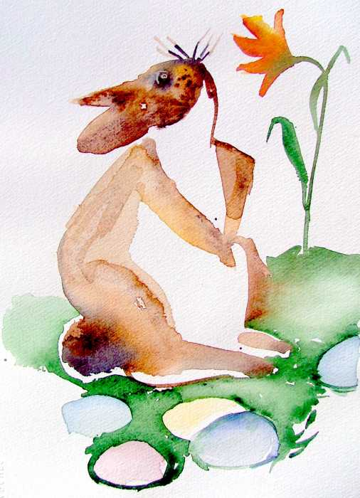 easter bunny pictures to print. Easter Bunny Painting - Easter