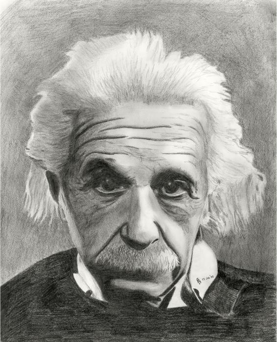 Einsteins Eyes Drawing - Einsteins Eyes Fine Art Print