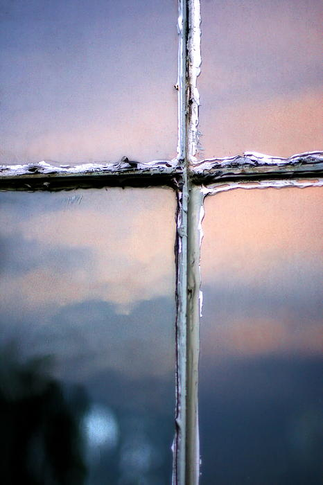 Angela Rath - Empty Cross on the Window of an Old Church