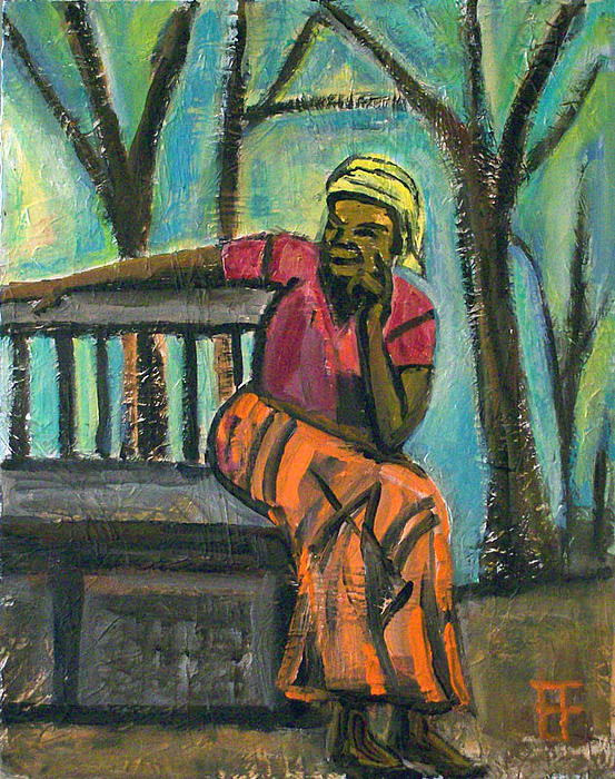 Brian Forrest - Fair Trade Coffee Woman on Bench