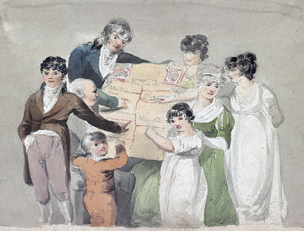 Photograph - Family Group - Smith, His Wife And Six by Everett