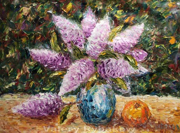 Flower painting Still-life flowers - original art by impressionism oil