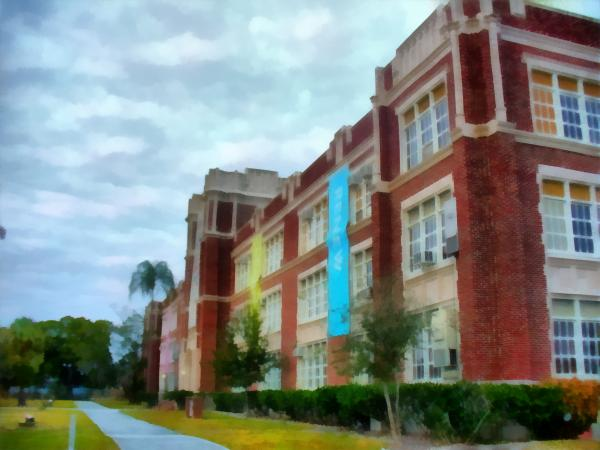 Formerly Sarasota High School Photograph - Formerly Sarasota High School