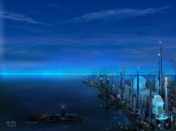 art futuristic cities - photo #3