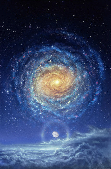 Galaxy Rising Painting  - Galaxy Rising Fine Art Print