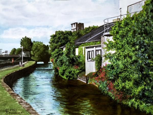 Painting of Galway by Daniel Fishback
