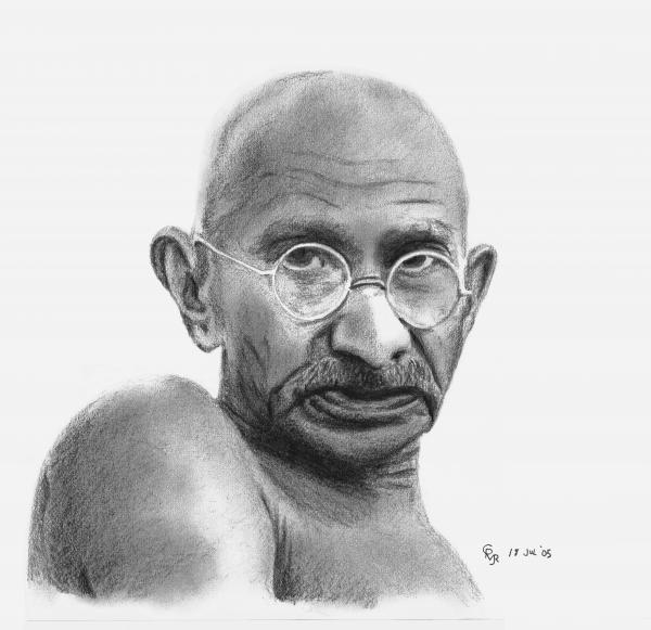 Weird Things I have Learned this week... Gandhi-charles-vogan
