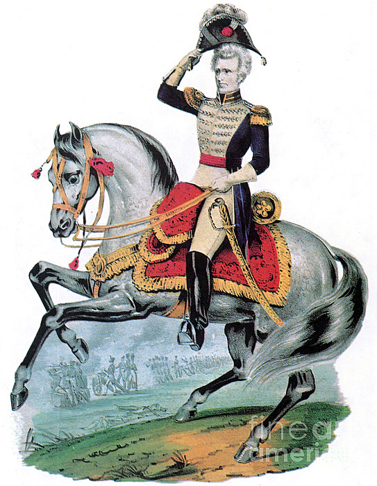 Government Photograph - General Andrew Jackson, Hero Of New by Photo Researchers