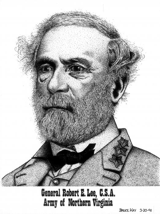 robert e lee civil war general. General Robert E. Lee Drawing