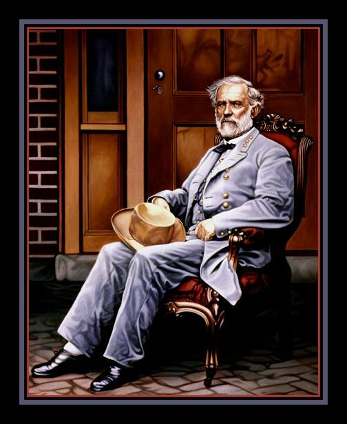 robert e lee civil war general. General Robert E. Lee Painting