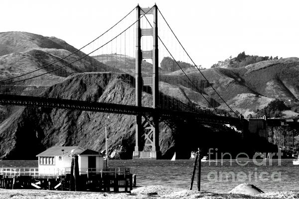 golden gate bridge black and white pictures. Golden Gate Bridge - Black and
