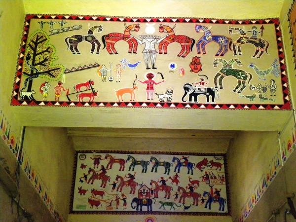 tribal artwork. Gond Tribal Art Photograph