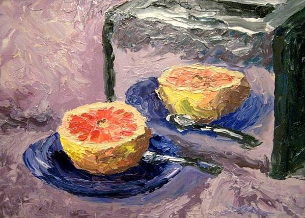 Grapefruit And Toaster Painting