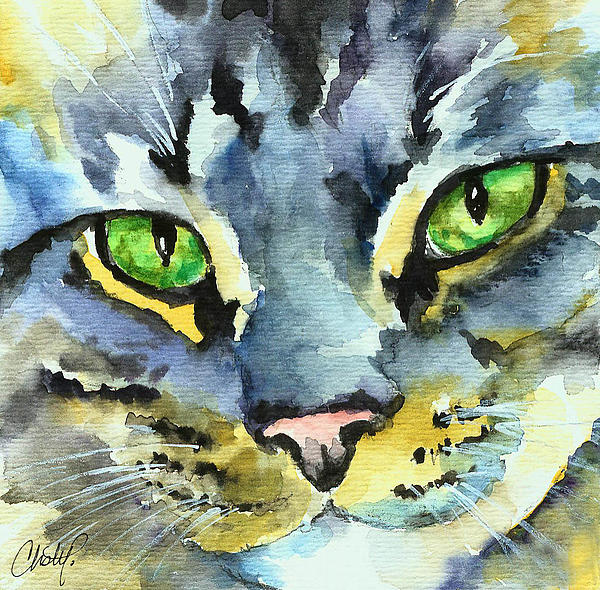 Christy  Freeman - Gray Tabby Striped Cat