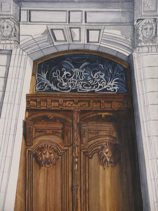 Great Door Painting  - Great Door Fine Art Print