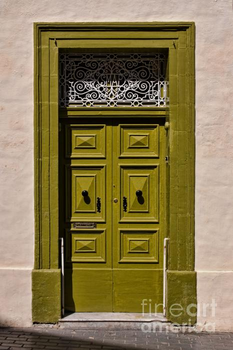 Green Door  Photograph  - Green Door  Fine Art Print