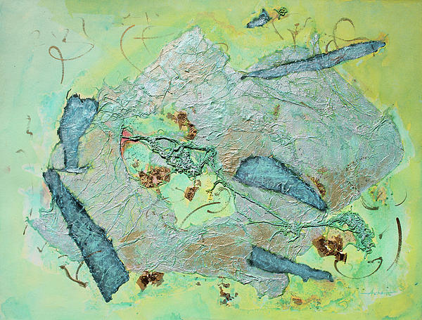 Green of the Earth Plane Painting by Asha Carolyn Young - Green of ...