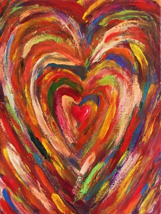 Heart Beat Number One Painting by Ricky Gagnon. Tags: love paintings