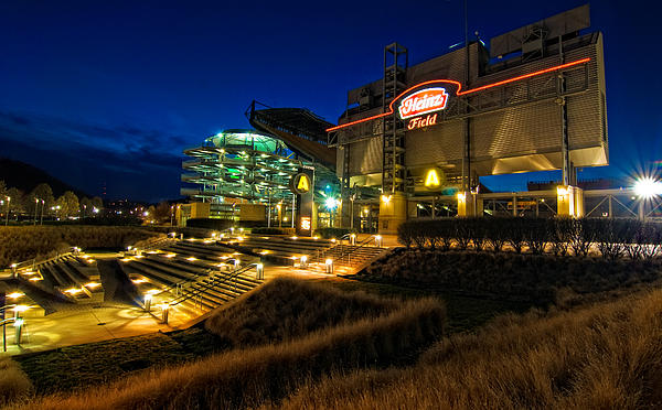 Heinz Field At Night Photograph  - Heinz Field At Night Fine Art Print