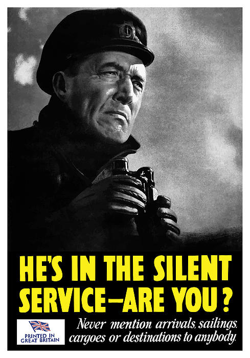 Hes In The Silent Service Painting  - Hes In The Silent Service Fine Art Print