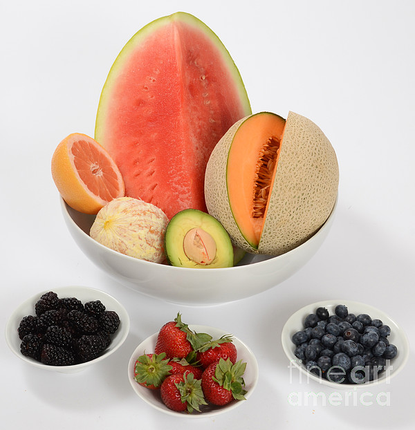 Assortment Photograph - High Carbohydrate Fruit by Photo Researchers, Inc.