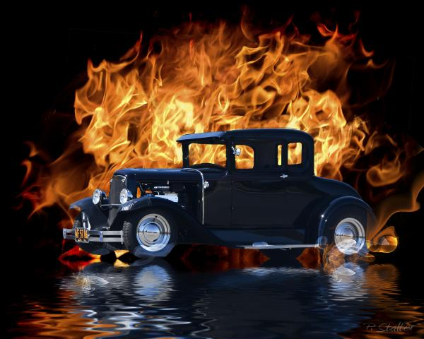 hot rod art prints. Hot Rod Digital Art - Hot Rod