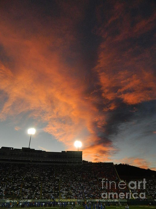 Hughes Stadium Sunset Photograph