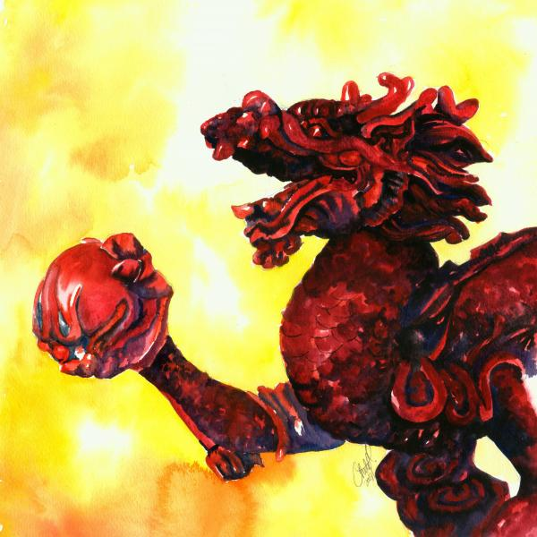 Imperial Dragon Painting - Imperial Dragon Fine Art Print