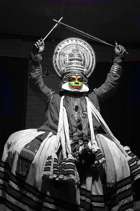 Indian Kathakali Dance Of Kerela 2 Photograph  - Indian Kathakali Dance Of Kerela 2 Fine Art Print