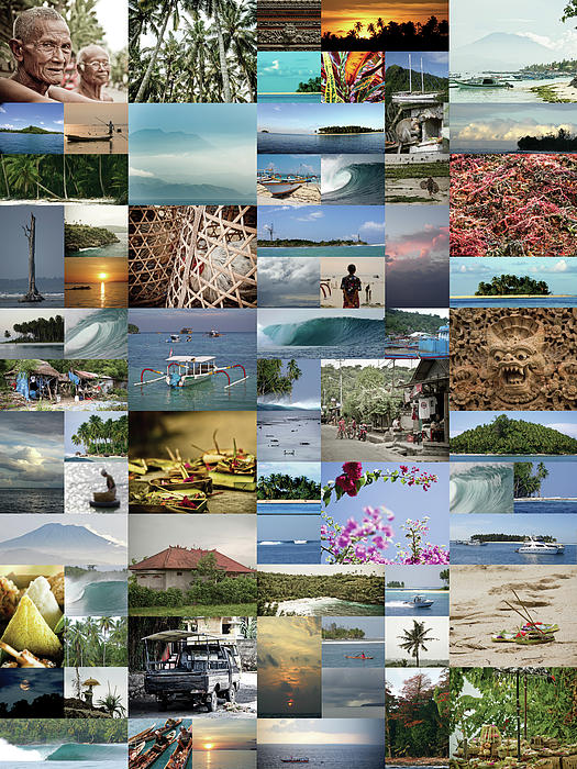 Indonesian Montage Photograph  - Indonesian Montage Fine Art Print