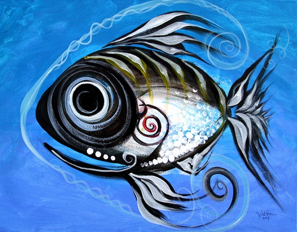 Fish Paintings Painting - Industrial Goddess by J Vincent Scarpace