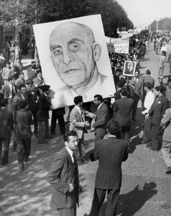 History Photograph - Iranians, Demonstrating In Favor by Everett