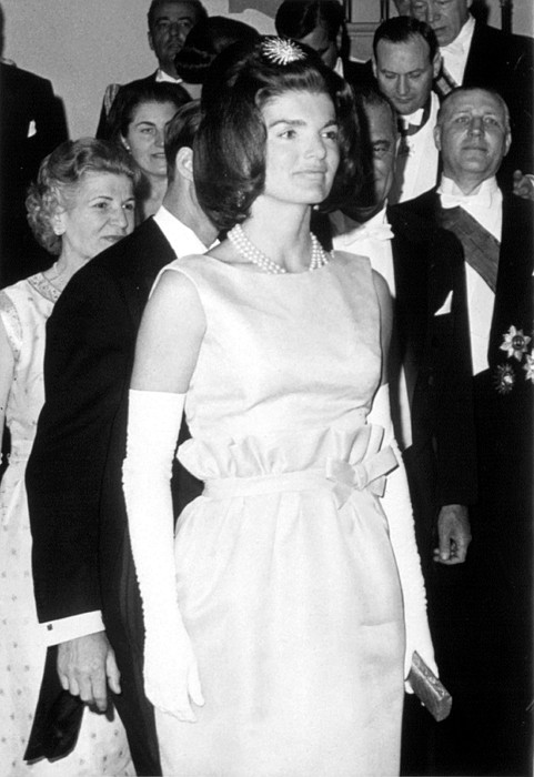 1960s Fashion Photograph - Jacqueline Kennedy At A Dinner To Honor by Everett