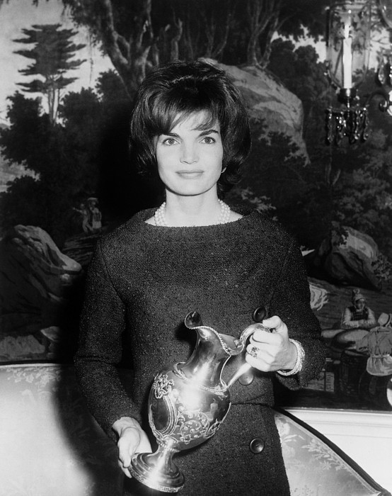 History Photograph - Jacqueline Kennedy Holds A Silver by Everett