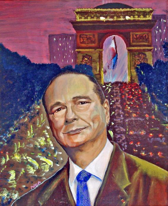 Jacques Chirac President Painting by Aymeric NOA - Jacques Chirac ...