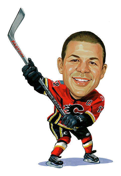 Jarome Iginla Painting  - Jarome Iginla Fine Art Print