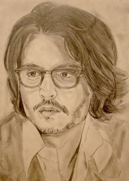 Johnny Depp Drawing by Andrew Ormes
