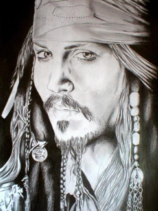 a drawing of jack sparrow johnny depp. Johnny Depp Jack Sparrow