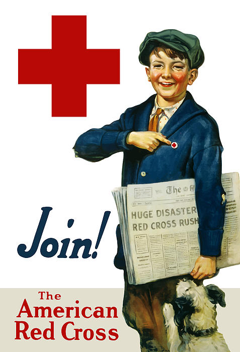 Join The American Red Cross Painting  - Join The American Red Cross Fine Art Print