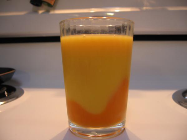 orange carrot juice glass