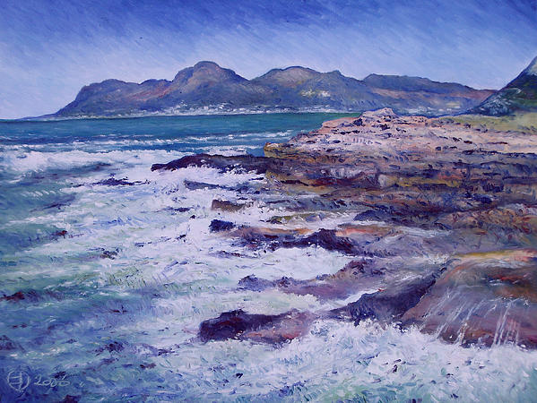 Kalk Bay and Fish Hoek Cape Town South Africa 2006 Painting - Kalk Bay and