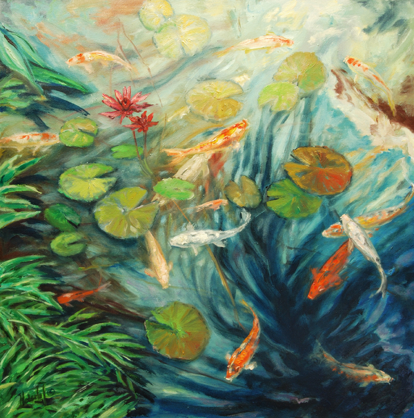 Rick Nederlof - Koi and palm