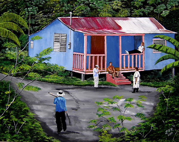 campo paintings, puerto rico paintings, campesinos paintings,