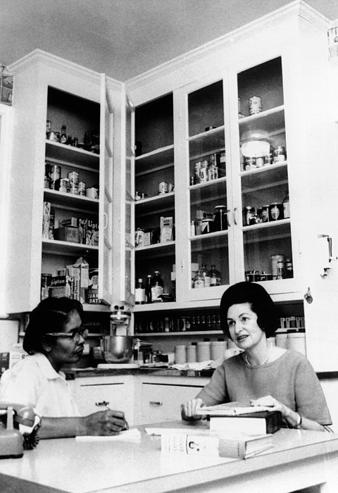 History Photograph - Lady Bird Johnson, In The Kitchen by Everett