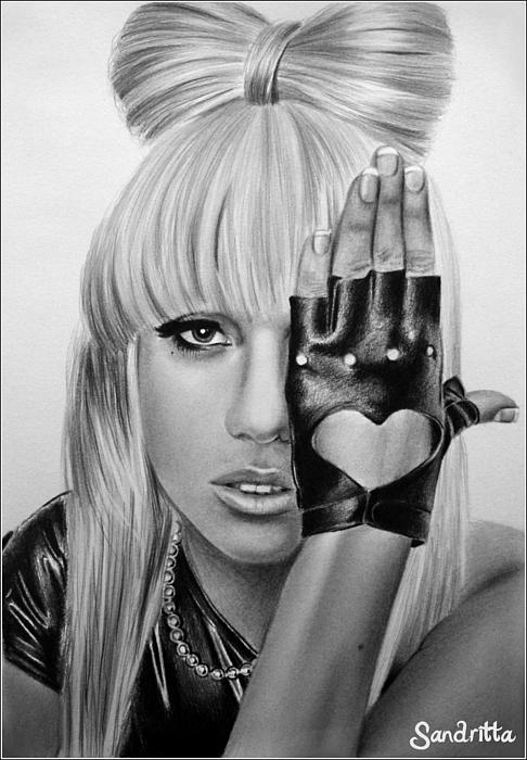 Lady Gaga Drawing by Sandritta Art